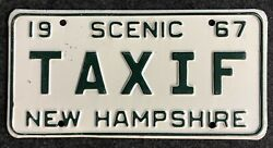 1967 New Hampshire Vanity License Plate Taxif Nh 67 Taxi Tax If
