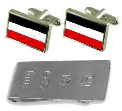 Empire Old Militairy Germany Flag Cufflinks And James Bond Money Clip