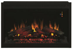 Traditional Builtin Electric Fireplace Insert Classic Flame 36 In. Glowing Ember