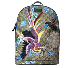 Gucci GG Supreme Backpack Shoulder Day Bag Bird Bee Small Blooms Flower Rare