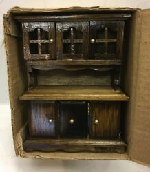 Vintage Concord Miniatures Dollhouse Furniture Kitchen Hutch New In Box 2374