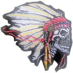 Indian Head Skull Patches Motorcycle Rider Indian Head Biker Skull Vest Patches