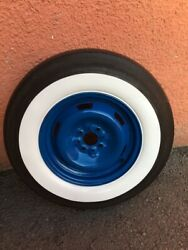 50's-60's Vintage Style Fits 7.50-14 Tires Wide White Wall Set4 Hot Rod Rat Rod