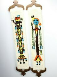 Vintage Set Of 2 Arizona Wall Hanging Hand Woven Collectible Decor Tapestry 51