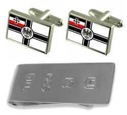 Ww1 Navy Ensign Militairy Germany Flag Cufflinks And James Bond Money Clip