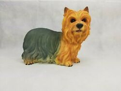 Standing YORKSHIRE TERRIER Puppy Dog - Life Like Figurine Statue Home  Garden