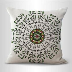 sacred circle mandala perfection couch decorative pillow case