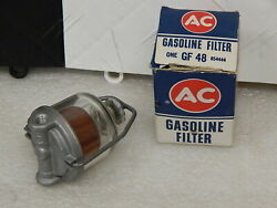 Nos Ac Delco Glass Bowl Fuel Filter With Element 1953-62 Corvette And Chevrolet