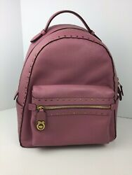 COACH F31016 Campus Backpack Book Bag Women's Pebbled Leather Brass Rose NWT