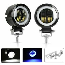 3Inch 35W Cree LED Work Light Pods Spot Beam Off-road Round Blue Truck Fog Lamp