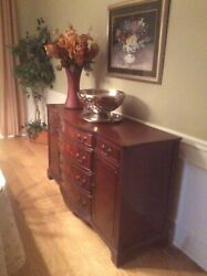 Antique Solid Cherry Dining Room Buffet Strong