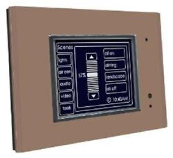 Clipsal C-bus Monochrome Touch Screen Cli5080ctl2-7 With Logic Engine Brown