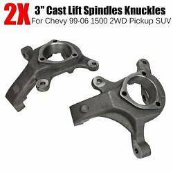 3 Front Lift Spindles Suspension Level Kit For 99-06 Chevy 1500 2wd Pickup Suv