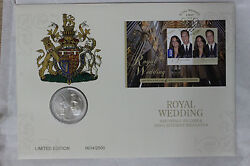 2011 Pnc 5 Pound William And Kate Royal Wedding Stamp Coin Fdc Sc5/m9