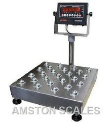 500 Lb Ball Top Roller Ntep Legal For Trade Digital Bench Scale 20x20 Platform