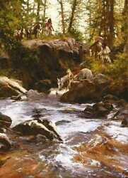 Crows In The Yellowstone By Howard Terpning Artist Proof Edition