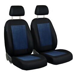Car Seat Covers For Seat Cordoba Front Seats Black Blue Velours