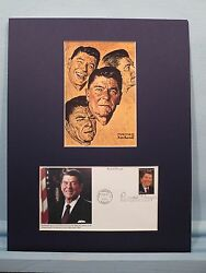 Ronald Reagan As Depicted By Norman Rockwell And The First Day Cover Of His Stamp