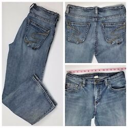 Silver Jeans Womens Aaron Bootcut Distressed Jeans Size 30 X 29