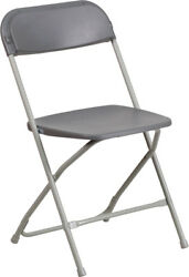 50 Pack 650 Lbs Capacity Commercial Quality Gray Plastic Folding Chairs