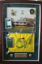 2001 The Masters Flag - Showing Club House In Augusta Ga