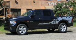 For 2013-2018 Dodge Ram Rage Bed Graphics Solid Multi Color 3m Decals Stripes