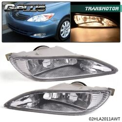 Bumper Fog Light Clear Len Front Lamps Fit For Toyota Camry 02-04 Corolla 05-08