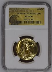 2009 Ultra High Relief Gold Double Eagle MS70 DPL NGC
