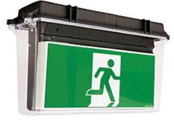 Stanilite Quickfit Led Exit Sign 466x155x274mm Picto Aow, Double Sided, Acrylic