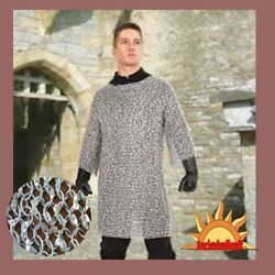 Christmas Presents Gift X Large Size Chain Mail Shirt 9 Mm Round Riveted Hauber