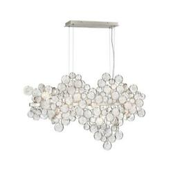 Chandeliers 12 Light Bulb Fixture W Glass Tone Finish G9 Type 11 inch 480 Watt