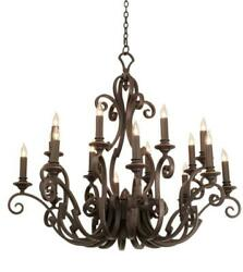 Chandeliers 16 Light Bulb Fixture W Country Iron Finish E12 Type 50