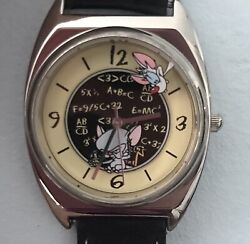 Vintage Pinky And The Brain Watch Warner Bros. Studio Store By Fossil Vhtf Rare
