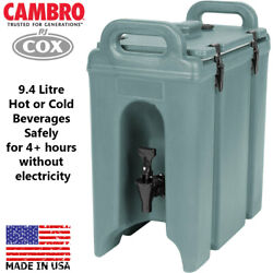 Cambro Camtainer Slate Blue 9.4 Litre Insulated Beverage Container Hot Or Cold