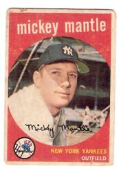 Venezuelan Topps 1959 Mickey Mantle #10 New York Yankees BENCO VENEZUELA