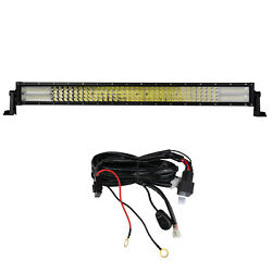 4 Rows 32 Inch Led Work Light Bar Combo+wiring Kit For Car Boat Tractor Suv Atv