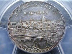 Germany Frankfurt 1887 The Only Known Silver Shooting Medal City View Pcgs Sp67