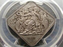 Germany Frankfurt 1887 The Only Known Shooting Silver Cliff Medal Pcgs Sp65