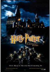 Harry Potter The Sorcerers Stone 27x40 2001 Ds Aol Version Original Poster
