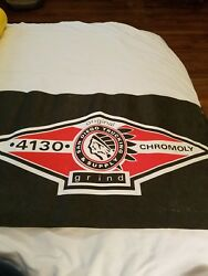 Vintage San Diego Trucking And Supply Skateboard Banner 4130 Chromoly. Grind.