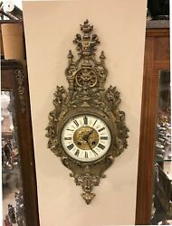 Antique 19th. Century French Bronze Cartel Wall Clock
