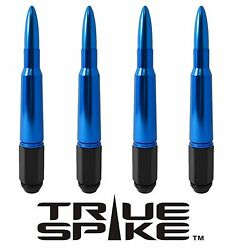 20 True Spike 7 Inch 12x1.5 Forged Steel Lug Nuts W/ Blue 50 Cal Bullet Spikes C