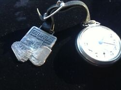 Caterpillar Tractor Fob And Westclox Pocketwatch