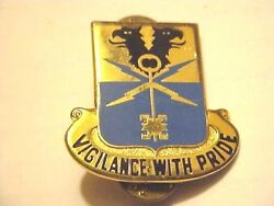 Us 533rd Military Police Battalion Di Dui Pin Clutchback Crest Medal Badge G525
