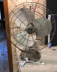 """Rare Vintage 16"""" Tabor Blade Metal Frame And Blades Speed Box Fan"""