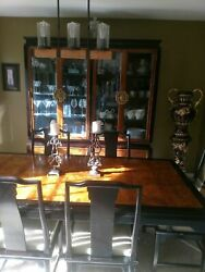 Century Chin Hua Dining Room Set China Cabinet Hutch and Server Ramond Sobota