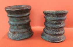 Genuine Lot Of Two Signal Cannon Bombards Spanish Antique 16th