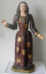 Beautiful Holy Madonna Wood Carved Articulated 33