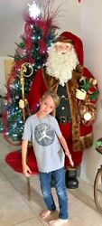 Memberand039s Mark Huge 6.5 Ft Deluxe Figure Life Size Santa Claus Christmas