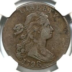 1798 S-167 Ngc Vf 20 Large 8 Draped Bust Large Cent Coin 1c